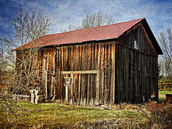 The old wooden barn by vigor