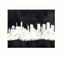 Landmark Skyline - Birmingham Alabama Art Print
