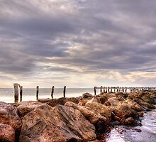 Groyne at Clifton Springs, Victoria by caru