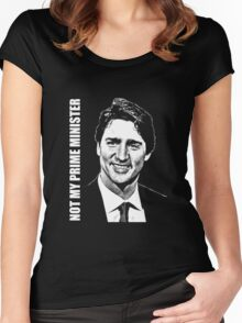 Justin Trudeau - Not My PM Women's Fitted Scoop T-Shirt