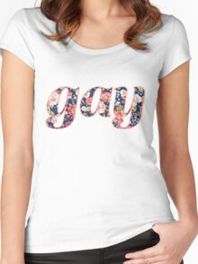 Floral gay Women's Fitted Scoop T-Shirt