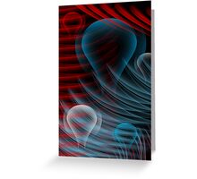 Red White and Blue Bulbs Greeting Card