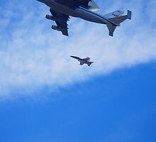"Space Shuttle ""Endeavour"" Flyover by Pschtyckque"