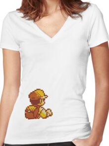 Red from Pokemon (Ash) Women's Fitted V-Neck T-Shirt