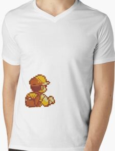 Red from Pokemon (Ash) Mens V-Neck T-Shirt