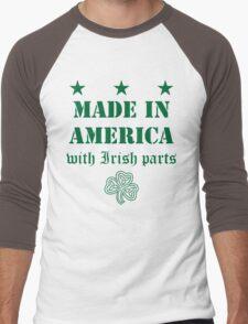 Made in America with Irish Parts Men's Baseball ¾ T-Shirt