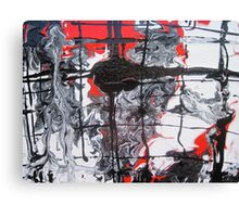 Red and Black 1 Canvas Print