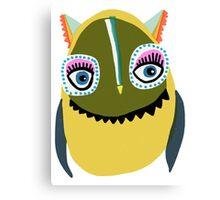 Eyelashes Owl Canvas Print
