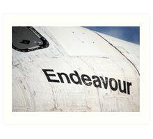 "Space Shuttle ""Endeavour"" Transit Art Print"