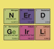 NERD GIRL - Periodic Elements Scramble! Kids Clothes