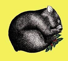 Xmas Wombat  by AirDrawn