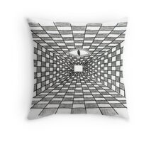 Tunnel Of Duality Throw Pillow