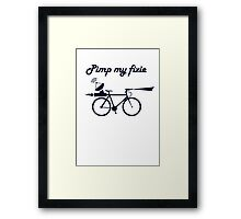 Pimp My Fixie Framed Print