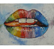 Lips Photographic Print