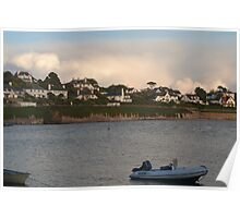 view from the river Fal. Poster