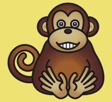 A grinning monkey. Kids Tee