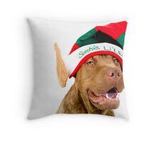 Santa's Lil' Elf Throw Pillow