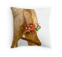 A Christmas Tail Throw Pillow