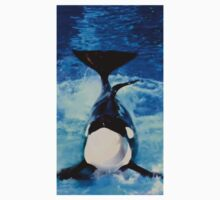 Proud Orca Daddy Posing for Photos One Piece - Short Sleeve