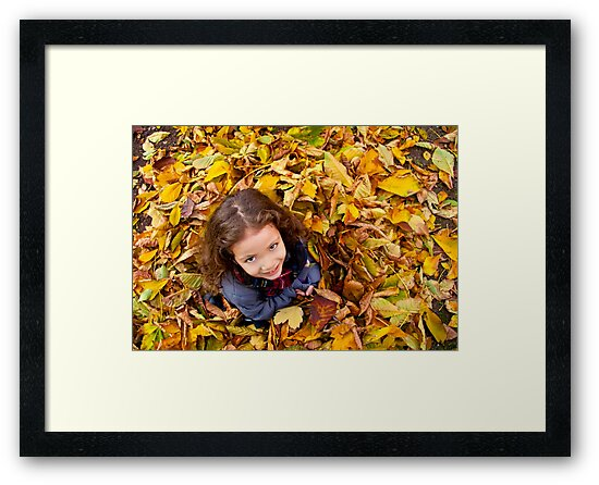 Playing With Autumn Leaves by Kuzeytac