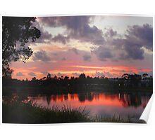 Pre-Sunrise Over Lake Eden Poster