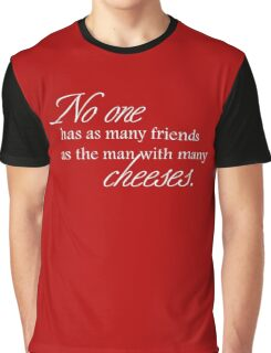 Cheese Friends white for high necked Graphic T-Shirt