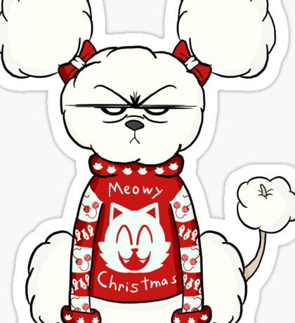 Don't Fluff with Me This Christmas Sticker