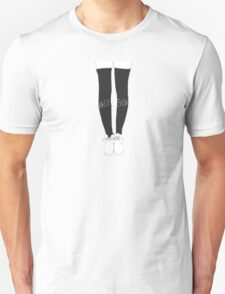 Black Knee Socks T-Shirt