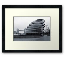 Time Bends Framed Print