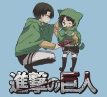 attack on titan levi and eren cute anime design  by tylerlions777