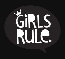 POP TYPE TYPOGRAPHY Girls Rule Black & white Baby Tee