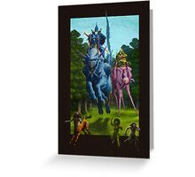 The Hunting Party of the Gods Greeting Card