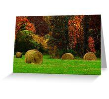Autumn Harvest Mosaic Greeting Card