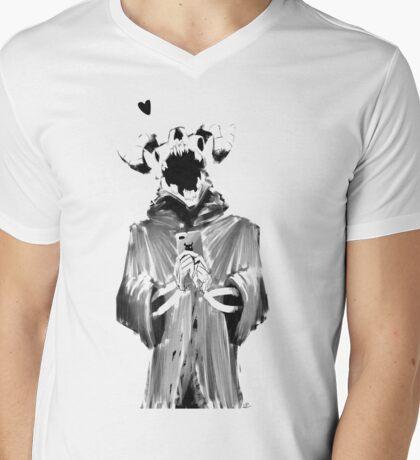 Snap Demon Mens V-Neck T-Shirt