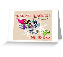 Teen Titans Christmas Greeting Card