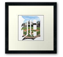 Detroit Tigers Stadium Logo Framed Print