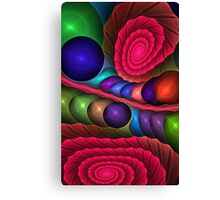 Spirals and Bubbles, fractal abstract Canvas Print