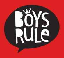 POP TYPE TYPOGRAPHY Boys Rule Black & white Kids Clothes