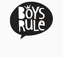 POP TYPE TYPOGRAPHY Boys Rule Black & white Unisex T-Shirt