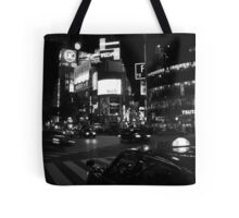 taxi awaits Tote Bag