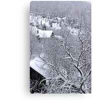 First snow winter background Canvas Print