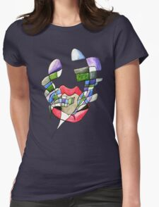 Music over my lips Womens Fitted T-Shirt