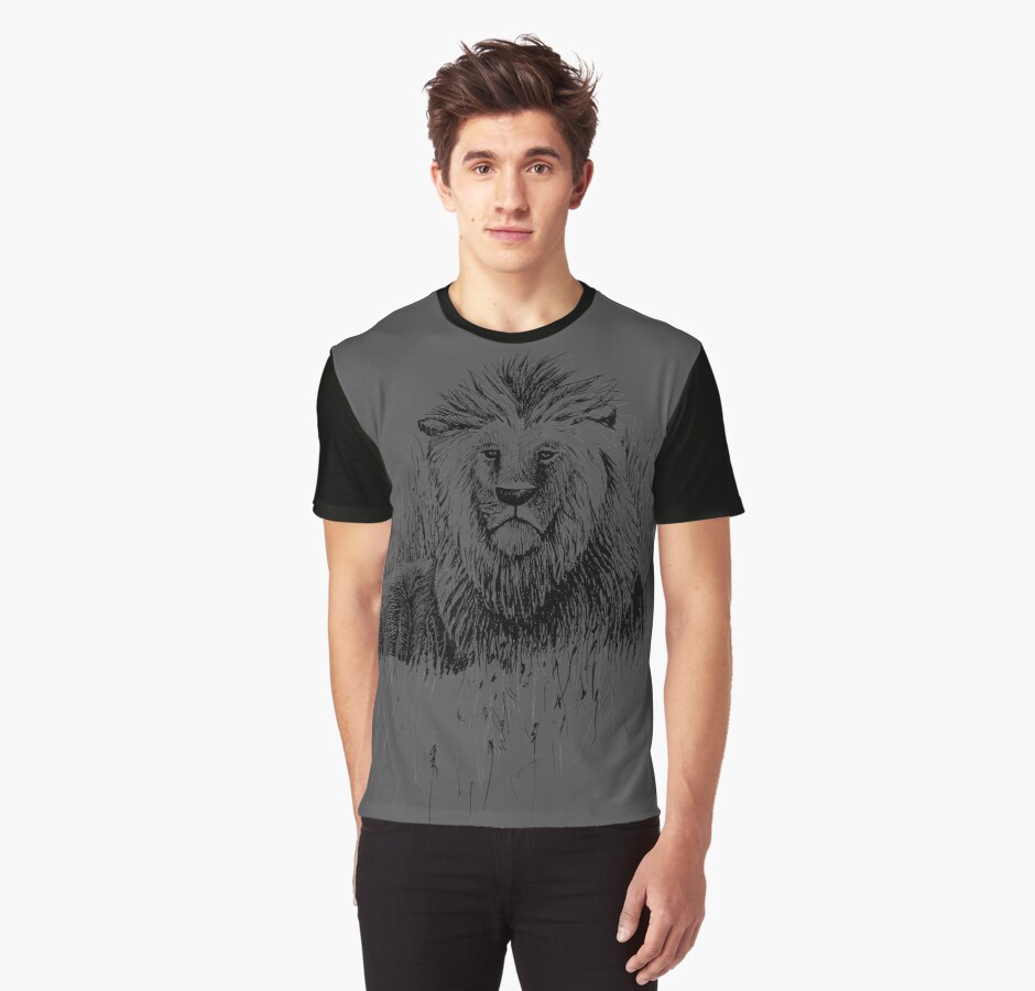 The Proud Lion – a symbol of brotherhood, strength & courage by AirDrawn