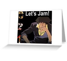 cowboy bebop spike spiegel jet faye edward anime manga shirt Greeting Card