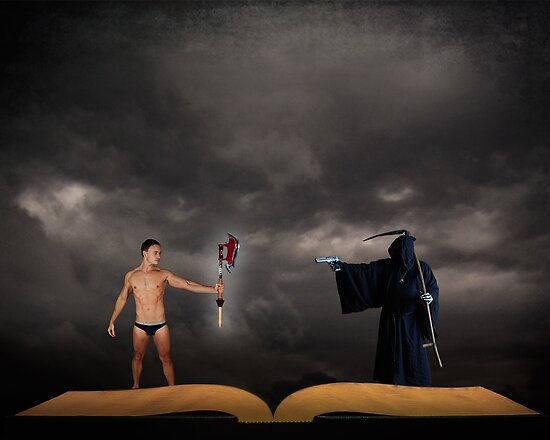 Hero vs Death by Michael Taggart
