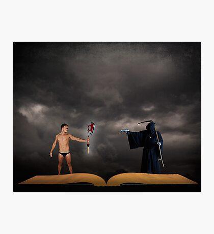 Hero vs Death Photographic Print