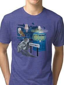 Hedwig Says Who! Tri-blend T-Shirt