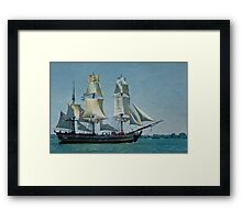 """Replica of the Bounty Built for """"Mutiny on the Bounty"""" Framed Print"""