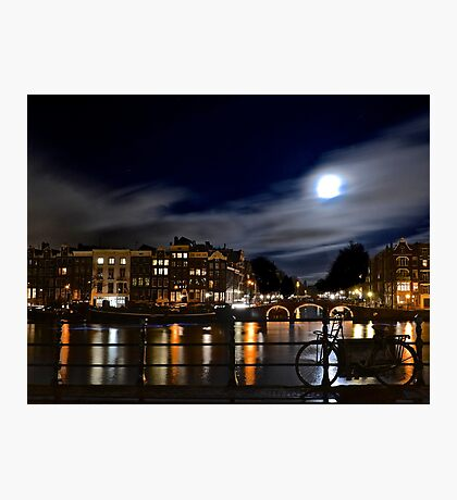 Amstel River Amsterdam moonstruck Photographic Print