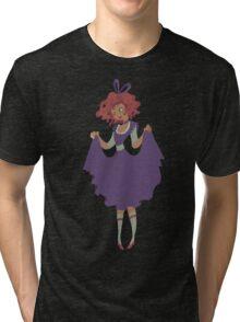 Cute Girl - Purple Dress Tri-blend T-Shirt